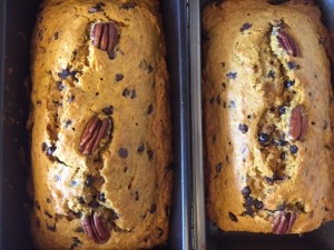 browned butter pumpkin bread w/chocolate chips